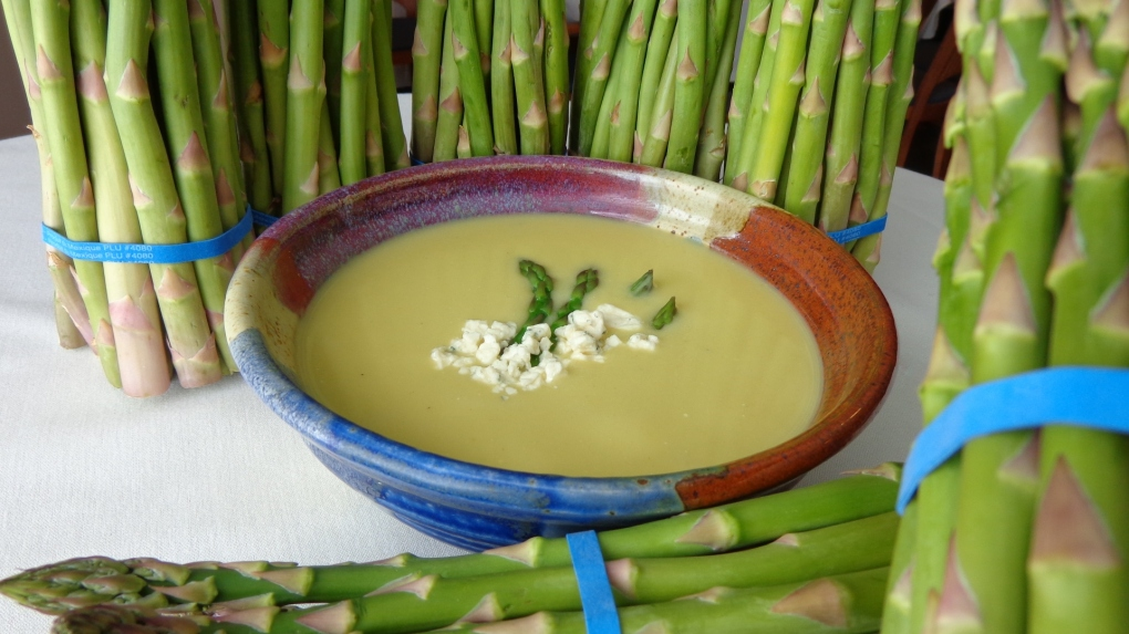 Asparagus Bleu Cheese Soup