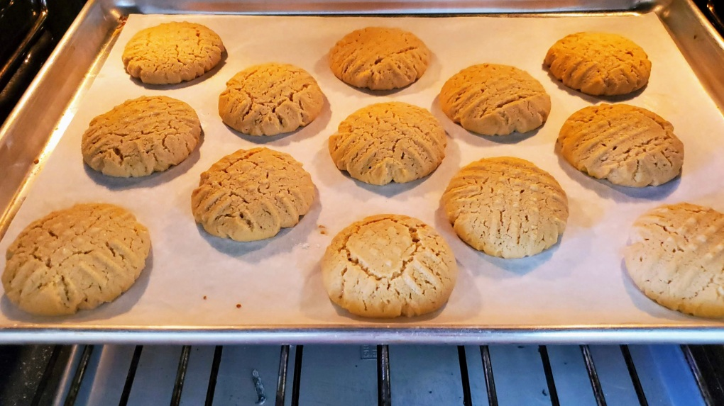 PB Cookies puffing up in oven